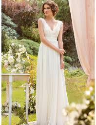 casual wedding dress beautiful a line v neck wedding dresses without trains casual