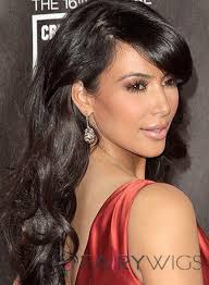 beautiful women hairstyle with sideburns cheap long black female celebrity hairstyle brown hair wigs