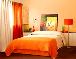 Bedroom Ideas Orange And Navy Color Palette Paint With Blue Decor - Bedroom orange paint ideas