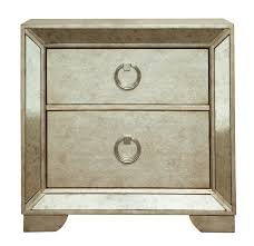 farrah nightstand in silver metallic by pulaski home gallery stores
