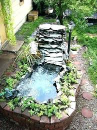 Backyard Waterfalls Ideas Garden Ponds With Waterfalls Pictures Of Garden Ponds And