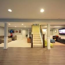 Finished Basement Flooring Ideas Mesmerizing Basement Flooring Ideas Over Concrete Photo Design
