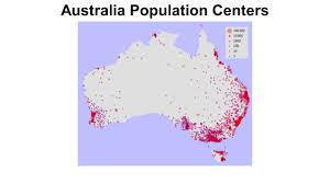 Australia Population Map Pacific Realm Mental Map Information Ppt Download