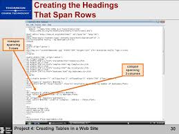 Html Table Font Color Creating Tables In A Web Site Ppt Video Online Download