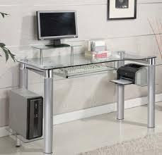 computer desk glass metal metal glass computer desk deskideas