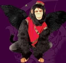 Flying Monkey Halloween Costume Flying Monkey Feathered Wing Costume
