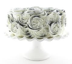 halloween black roses rosette fake cake black and white design approx 9w x