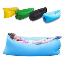 inflatable beach mat outdoor flocking triangle cushions portable
