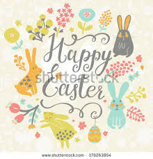 happy easter cards bright happy easter card vector stock vector 178263854