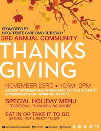irvington township church to offer thanksgiving dinner for those