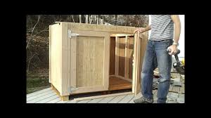 8 how to hang shed doors how to build a generator enclosure