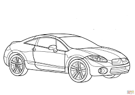car mitsubishi eclipse mitsubishi eclipse coloring page free printable coloring pages