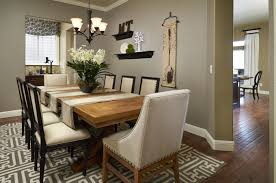 living room and dining room together furniture rectangular red grey fabric stacking chairs formal