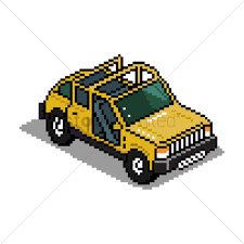 jeep art pixel art jeep vector image 1959082 stockunlimited