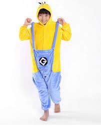 Cheap Halloween Costumes Pajamas Minions Kigurumi Pajamas Animals Kids Children Suit Carnival