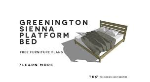Free Plans To Build A Platform Bed by Free Diy Furniture Plans How To Build A King Sized Sienna