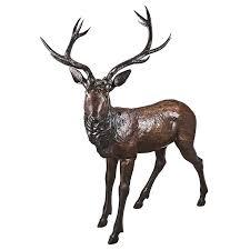 design toscano standing deer buck garden statue reviews wayfair