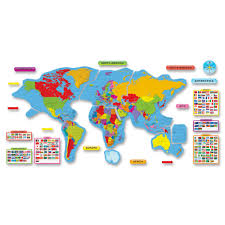 World Map Bulletin Board by Trend Continents U0026 Countries Bulletin Board Set Tierney Office