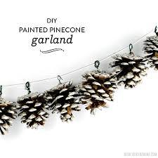 pinecone garland diy painted pinecone garland barone