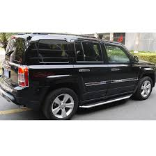 jeep patriot nerf bars sky black pair running boards steps nerf bars for 2011 2016 jeep