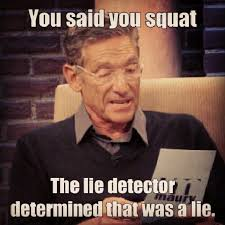 Lie Detector Meme - how to spot the squat crossfit full auto
