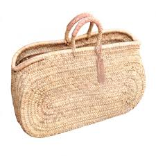round large wicker basket natural handles natural baskets