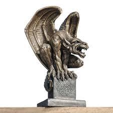 shop design toscano abbadon gargoyle statue 12 in garden statue at