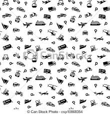 Seamless Backdrop Clipart Vector Of Seamless Backdrop Transport Icons 10eps