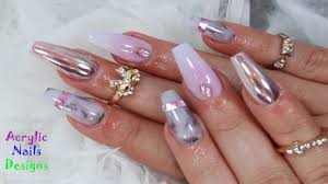 acrylic nail designs chrome ombre marble how to acrylic nail