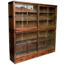 Sliding Glass Cabinet Doors 1850 S Japanese Glass Front Tansu Cabinet With Sliding Doors