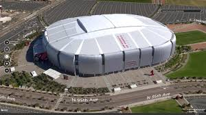 Glendale Arizona Map by Bing Maps Shows Super Bowl Spirit With New Venue Map Streetside