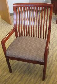 wood slat carrington by kimball fabric with wood slat back frame guest chair