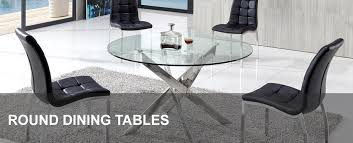 Round Glass Dining Tables Large And Contemporary Modenza Furniture - Large round kitchen tables