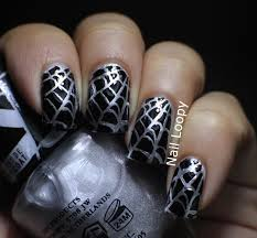 nail loopy halloween spider web nail vinyls