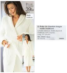 robe de chambre longue damart promotion robe de chambre longue maille moelleuse produit