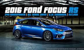 Ford Courier Engine Mods Update 2016 Ford Focus Rs Revealed 350 Hp 2 3l Ecoboost And Awd