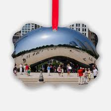 chicago bean ornament cafepress