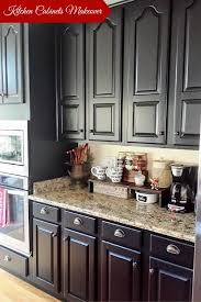 kitchen trendy diy painted black kitchen cabinets espresso