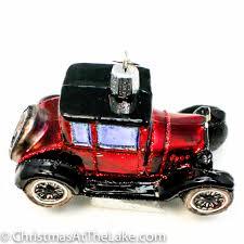 classic car ornament vintage car ornament at the lake