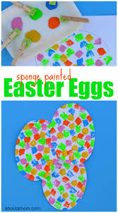 sponged painted easter egg craft about a mom