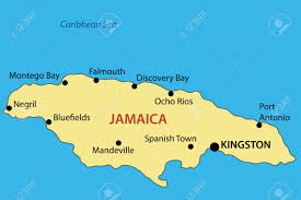 World Map Jamaica by Commonwealth Of Jamaica Vector Map Royalty Free Cliparts