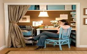 outstanding small closet office ideas pics decoration ideas tikspor office workspace cute home ideas a closet turned from lowes design