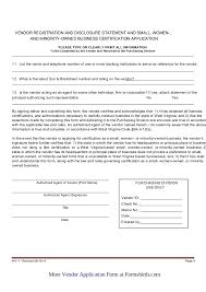 vendor registration form vendor rules u0026 regulations pdf file