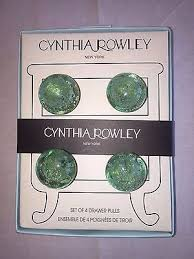 Green Glass Cabinet Knobs New Cynthia Rowley Set Of 4 Glass Cabinet Knobs Drawer Pulls 1 75