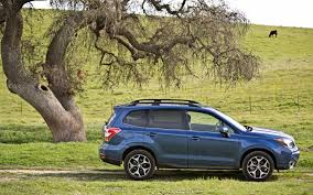 blue subaru forester 2015 2014 subaru forester 2 5i limited xt first test truck trend