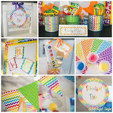 Classroom Theme Decor Learn Colorfully Classroom Decor Schoolgirlstyle