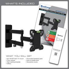 full motion tv wall mount 60 inch qualgear qg tm 007 blk 13 inch to 27 inch universal low profile