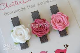 handmade hair accessories 2 5 baby felt hair bows hair girl hair accessories baby felt