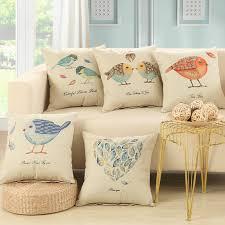 taie d oreiller pour canapé en gros 5 couleurs bel oiseau décoratif housses de coussin pour