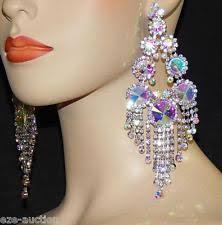 rhinestone chandelier earrings bridal chandelier earrings ebay